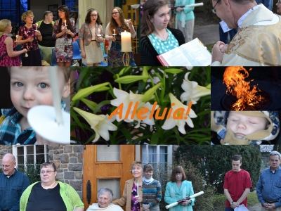 Easter Vigil Collage